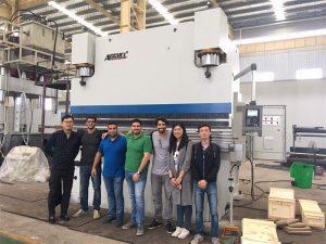 Бразилске посјетитеље посјетите фабрике и купите кочионе машине за пресовање